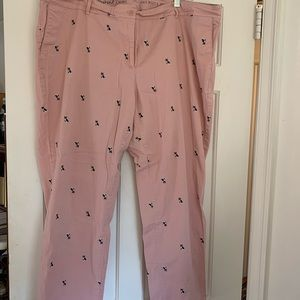 Talbots Weekend Dog Embroidered Chino Pants